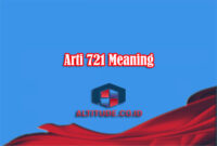 Arti 721 Meaning